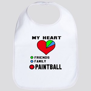 My Heart Friends, Family and Paint Cotton Baby Bib
