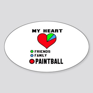My Heart Friends, Family and Paintb Sticker (Oval)