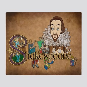 Shakespeare Illuminated Throw Blanket