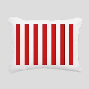 Lipstick Red Stripes Rectangular Canvas Pillow