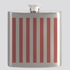 Lipstick Red Stripes Flask