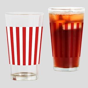 Lipstick Red Stripes Drinking Glass