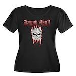 Demon Skull Women's Plus Size Scoop Neck Dark T-Sh