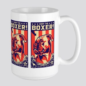 Obey the Boxer! USA Large Propaganda Mug