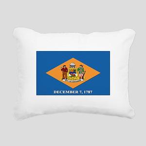Flag of Delaware Rectangular Canvas Pillow