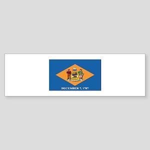 Flag of Delaware Sticker (Bumper)