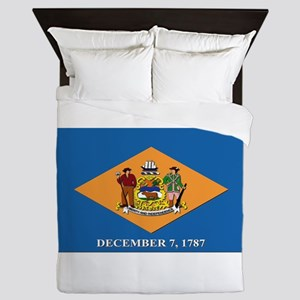 Flag of Delaware Queen Duvet