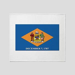 Flag of Delaware Throw Blanket