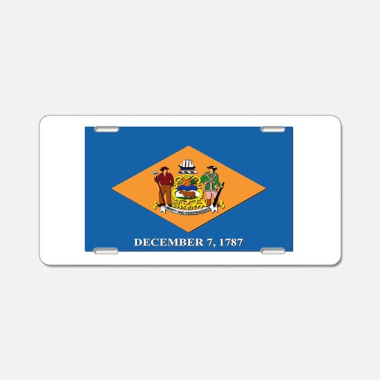 Flag of Delaware Aluminum License Plate