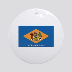 Flag of Delaware Ornament (Round)