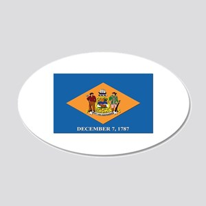 Flag of Delaware 20x12 Oval Wall Decal