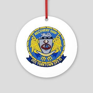 USS Yorktown Apollo 8 Ornament (Round)