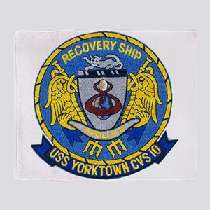 USS Yorktown Apollo 8 Throw Blanket
