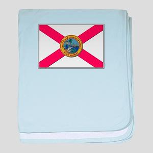 Flag of Florida baby blanket