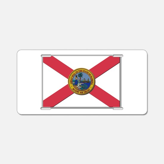 Flag of Florida Aluminum License Plate