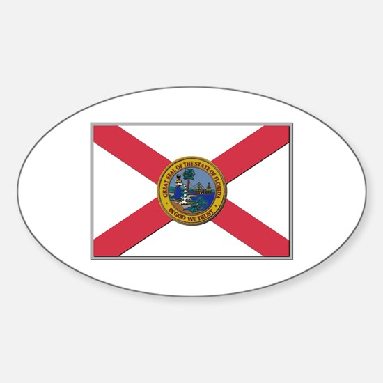 Flag of Florida Sticker (Oval)
