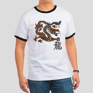 Asian Dragon Ringer T-shirt