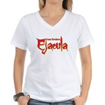 Ejacula Women's V-Neck T-Shirt