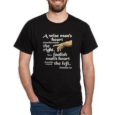 Ecclesiastes 10:2 Dark T-Shirt