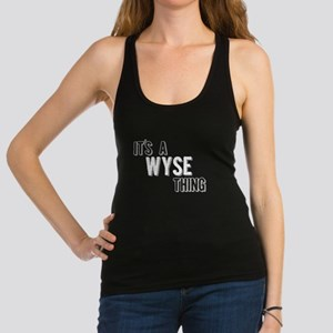 Its A Wyse Thing Racerback Tank Top