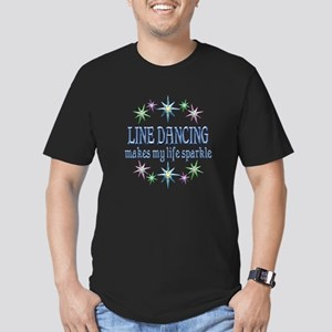 Line Dancing Sparkles Men's Fitted T-Shirt (dark)