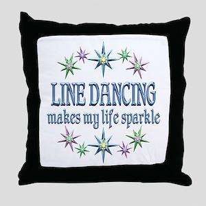 Line Dancing Sparkles Throw Pillow