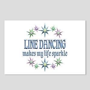 Line Dancing Sparkles Postcards (Package of 8)