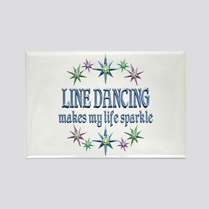 Line Dancing Sparkles Rectangle Magnet