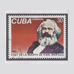 Karl Marx 1983 Death Centennial Throw Blanket
