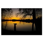 Spring Clear Lake Large Poster