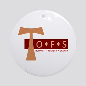 OFS Secular Franciscan Ornament (Round)