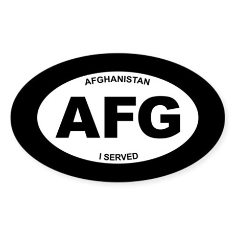 Afghanistan: I Served Sticker (Oval)