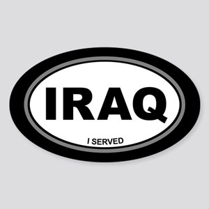 Iraq: I Served Sticker (Oval)