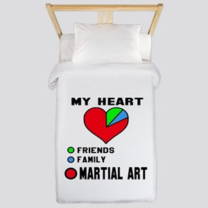 My Heart Friends, Family and Mart Twin Duvet Cover