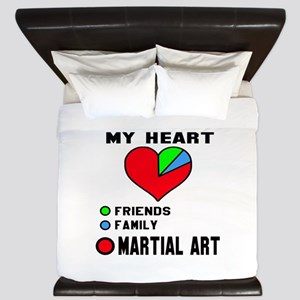 My Heart Friends, Family and Martial Ar King Duvet