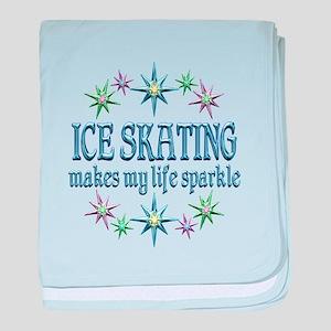Ice Skating Sparkles baby blanket