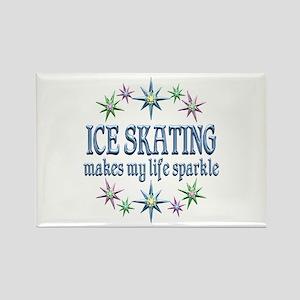Ice Skating Sparkles Rectangle Magnet