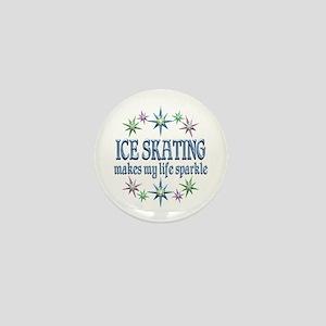 Ice Skating Sparkles Mini Button