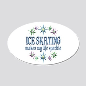 Ice Skating Sparkles 20x12 Oval Wall Decal