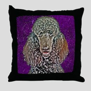 Poodle Fun Throw Pillow