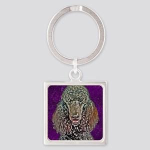 Poodle Fun Square Keychain