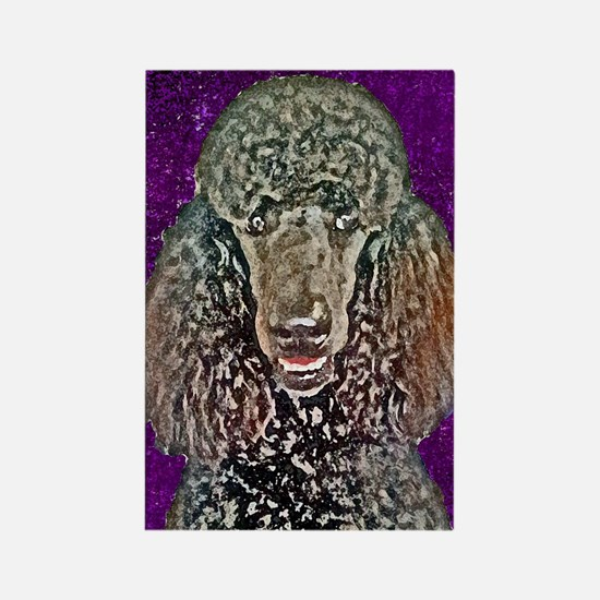 Poodle Fun Rectangle Magnet