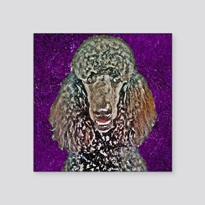 "Poodle Fun Square Sticker 3"" x 3"""