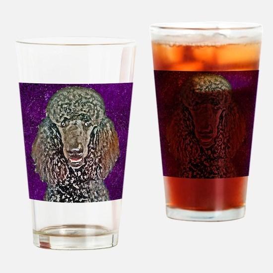 Poodle Fun Drinking Glass