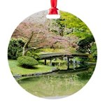 Cherry Blossom Bridge Ornament