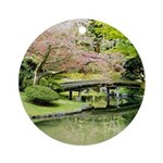Cherry Blossom Bridge Ornament (Round)