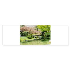 Cherry Blossom Bridge Bumper Sticker
