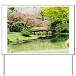 Cherry Blossom Bridge Yard Sign