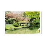 Cherry Blossom Bridge Rectangle Car Magnet