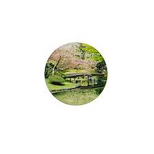 Cherry Blossom Bridge Mini Button